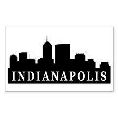 Indianapolis Skyline Rectangle Decal