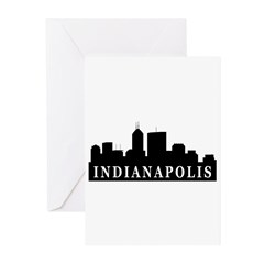 Indianapolis Skyline Greeting Cards (Pk of 20)