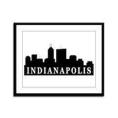Indianapolis Skyline Framed Panel Print