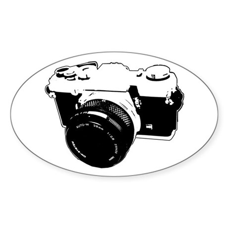 Photographer Oval Sticker