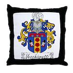Vecchiaretti Family Crest Throw Pillow