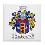 Vecchiaretti Family Crest Tile Coaster