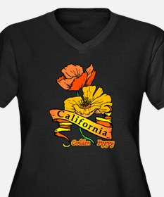 California Pride! Women's Plus Size V-Neck Dark T-