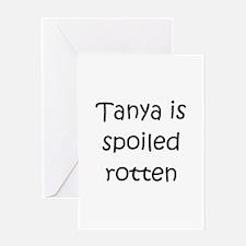 Cute Tanya Greeting Card