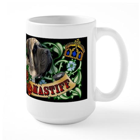 Tattoo Mastiff Large Mug