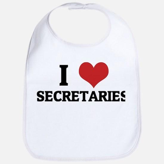 I Love Secretaries Bib