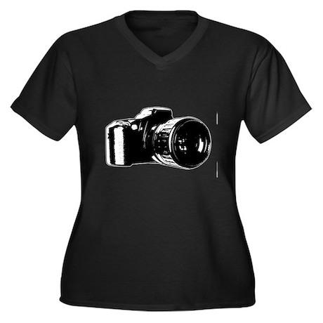 Photographer Women's Plus Size V-Neck Dark T-Shirt