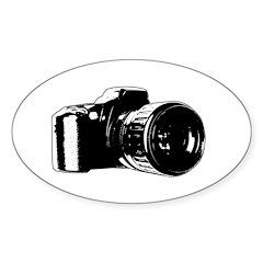 Photographer Oval Sticker (10 pk)