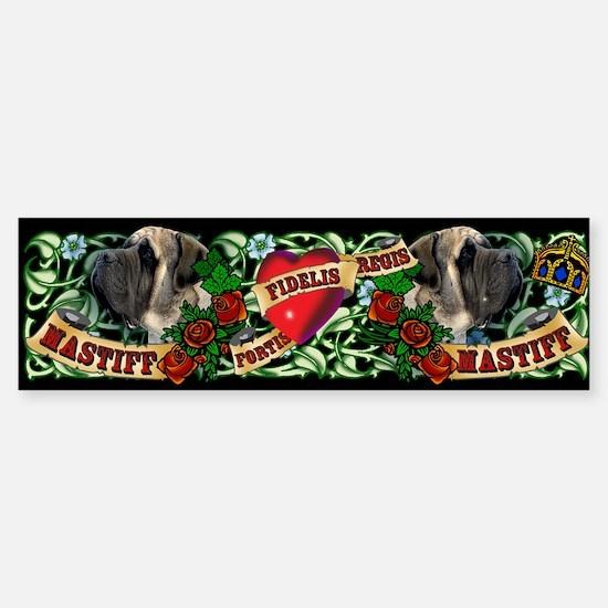 Tattoo Mastiff Bumper Bumper Bumper Sticker