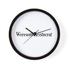 Werewolf Aristocrat Wall Clock