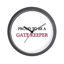 Proud to be a Gate Keeper Wall Clock