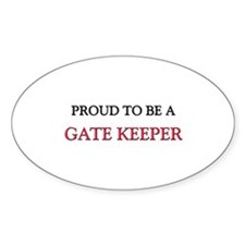Proud to be a Gate Keeper Oval Decal