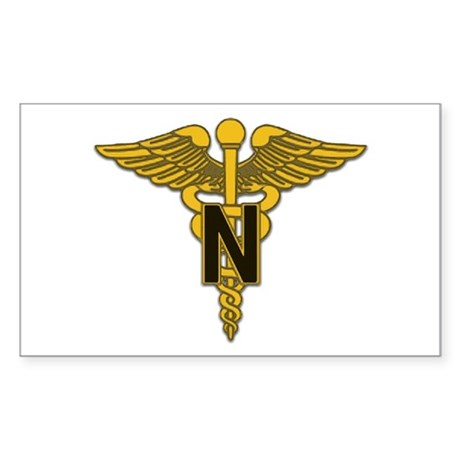 Army Nurse Corps Rectangle Sticker