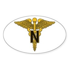 Army Nurse Corps Oval Decal