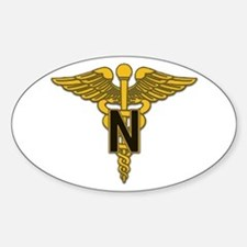 Army Nurse Corps Oval Sticker (10 pk)