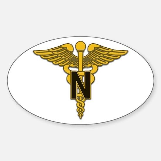 Army Nurse Corps Oval Sticker (10 pk)