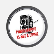 Photography Is Not A Crime Wall Clock