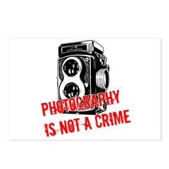 Photography Is Not A Crime Postcards (Package of 8
