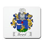 Verardi Family Crest Mousepad