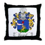 Verardi Family Crest Throw Pillow