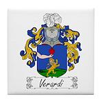 Verardi Family Crest Tile Coaster