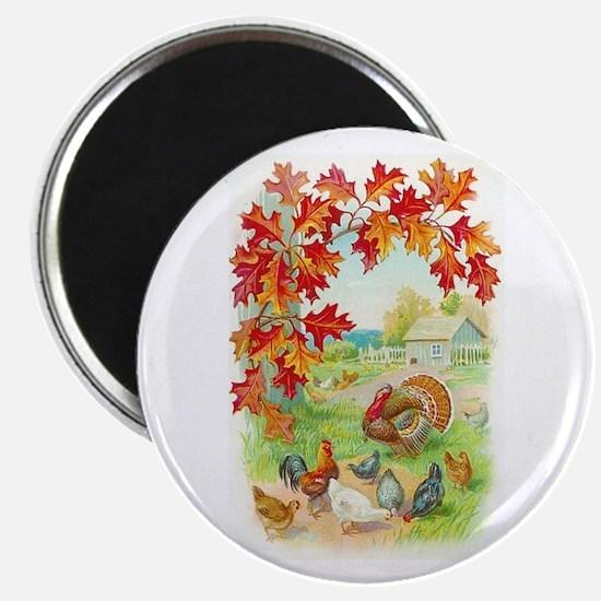 Thanksgiving Farm Design Magnet