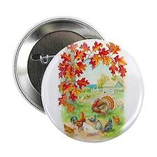"""Thanksgiving Farm Design 2.25"""" Button (10 pac"""