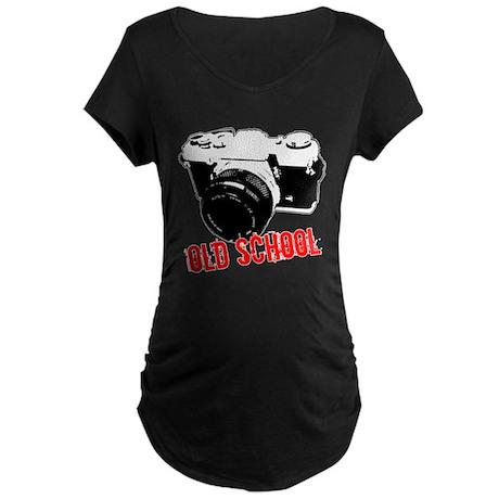 Old School Maternity Dark T-Shirt