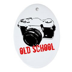 Old School Oval Ornament