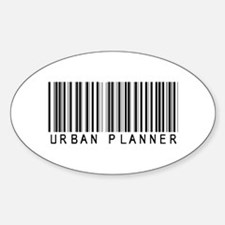 Urban Planner Barcode Oval Decal