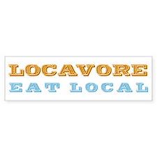Locavore Eat Local Bumper Bumper Sticker