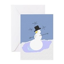 Tipsy the Snowman Greeting Card