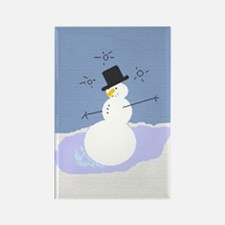 Tipsy the Snowman Rectangle Magnet