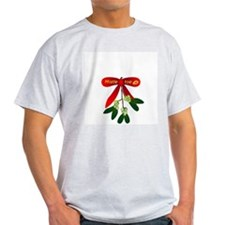 Bawdy Mistletoe! Ash Grey T-Shirt