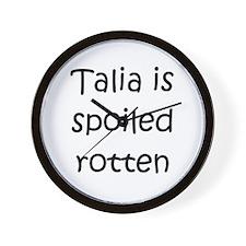 Funny Talia Wall Clock