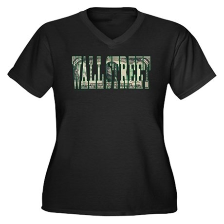 WALL STREET 1000 Dollar BILL Women's Plus Size V-N