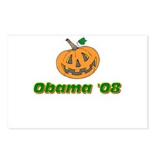 Obama pumpkin Postcards (Package of 8)