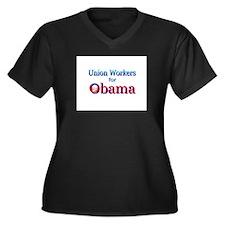 Union Women's Plus Size V-Neck Dark T-Shirt
