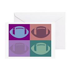 FOOTBALL QUAD 2 Greeting Card