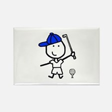 Boy & Golf Rectangle Magnet