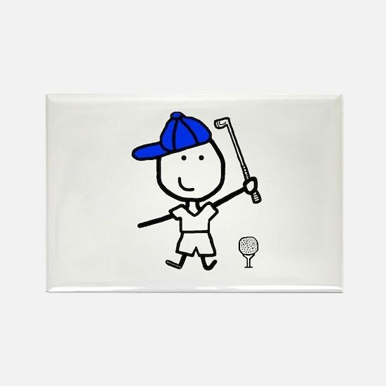 Boy & Golf Rectangle Magnet