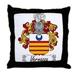 Vernazza Family Crest Throw Pillow