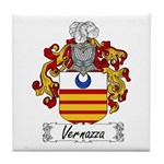 Vernazza Family Crest Tile Coaster