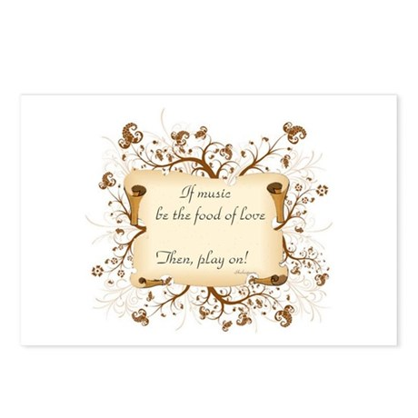 If music be food of love Postcards (Package of 8)