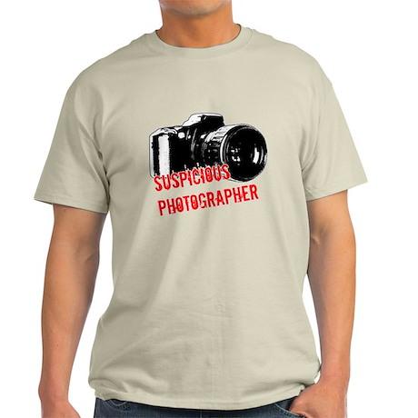 Suspicious Photographer Light T-Shirt
