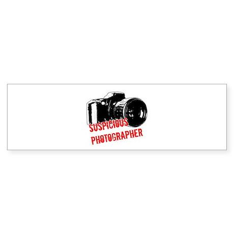 Suspicious Photographer Bumper Sticker