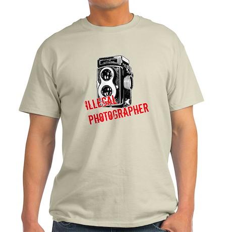 Illegal Photographer Light T-Shirt
