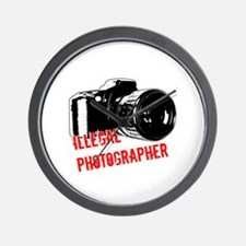 Illegal Photographer Wall Clock