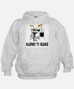 Allergic to silence drummer Hoodie