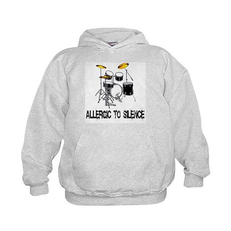 Allergic to silence drummer Kids Hoodie